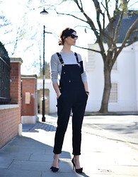 Hedvig ... - Frame Denim Overalls, Fwss Knit, Isabel Marant Shoes, Comme Des Garçons Pouch - Being free