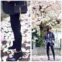 Anjelica Lorenz - Yves Saint Laurent Tassle Bag, Blk Dnm Skinny Jeans, By Malene Birger Boots, Isabel Marant Blazer - IN FULL BLOOM.