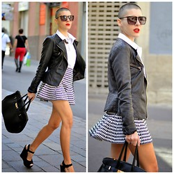 Marta Purriños - Marc By Jacobs Sunglasses, Primark Biker, Teria Yabar Skirt - HIGH SCHOOL
