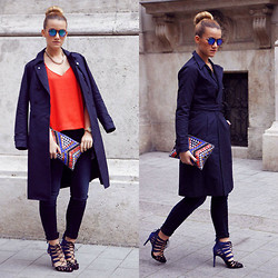 Nati Drencseva - G Star Raw Coat, Zara Heels, H&M Top, G Star Raw Jeans - Casual elegance