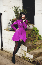 Galina Thomas - Ted Baker, Zara, Lulu Guinness - Radiant Orchid