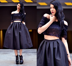 Konstantina Tzagaraki - Skirt, Crop Top - Everyone is a moon, and has a dark side which he never shows