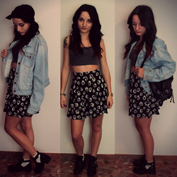Zoé P - H&M Skirt, Supre Crop Top, Primark Jacket, Boohoo Ankle Boots, Primark Bag, Primark Head Band - MARGUERITE