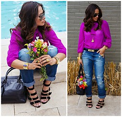Brasillian Doll Doll Blogger - Zara Pants, Topshop Shoes, Coach, Ray Ban Aviator, Moschino, Lexie Larae Neclake - Hello Spring