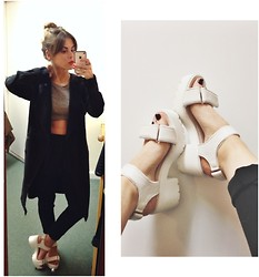 Bryony Dodds - H&M Coat, Asos Crop Top, Missguided Highwaisted Trousers, Truffle Shoes - MAC