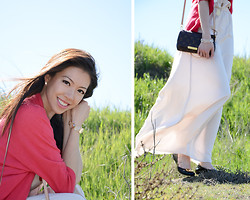 Beautybystarlet - Zara The Maxi Dress, Louis Vuitton Lv Purse, Tory Burch Reva Ballerina Flats, Cardigan - The Maxi Dress