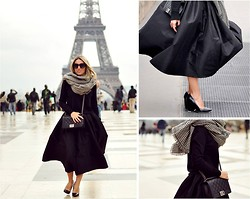 Mónica Sors - Choies Skirt, Choies Sweater, Aldo Shoes, Chanel Bag, Zara Scarf, Zerouv Sunglasses - From Paris with love...
