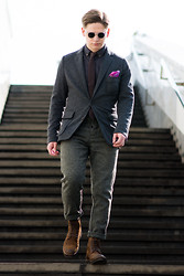 Stanislav Young - Mango Blazer, H&M Trousers, Marc'o Polo Boots, Etro Pocket Square - Suits & Boots