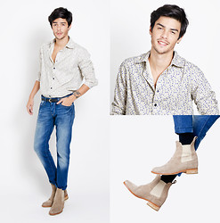 Vini Uehara - Guidomaggi Boots, Clube Vintage Liberty Shirt - Countryside love