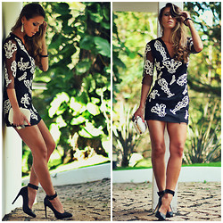 Vanessa Vasconcelos - For It, Forever 21, O Look - Vestido Curto com rendas luxo da For It