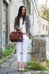 Irene's Closet - Aniye By Jacket, Mavi Shirt, The Bridge Bag, Zara Pants, Sarenza Shoes - Brown Doctor bag!