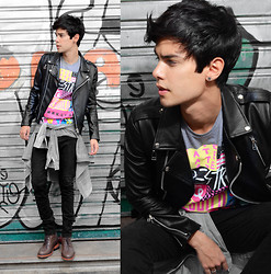 Vini Uehara - Glamour Kills T Shirt, Guidomaggi Boots, Mepcy Jacket - I Could Say