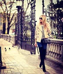 Silvia P. - Comptoir Des Cotonniers Jacket, Mango Jeans, Chanel Purse, H&M Blouse - Ordinary day