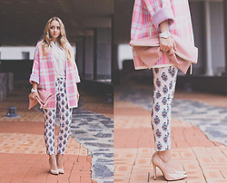Olga Choi - 8 Seconds Cardigan, Persun Shoes, Sheinside Pants, Asos Watch - Pastel games