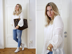 Ida Gabrielsson - Hudson Kate For Lindex, Bikbok Jeans, Converse Sneakers, Louis Vuitton Bag - CASUAL MONDAY