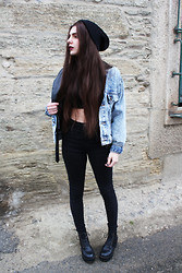 CLAUDIA Holynights - Asos Beanie, Levi's® Denim Jacket - Heart and soul, one will burn.