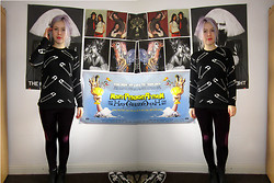 Georgie . - Freak Of Nature Jumper, Topshop Leggings - The faster the world spins, the shorter the lights will glow