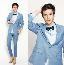 Vini Uehara - Doublju Blazer, Ramalama Bow Tie, Guidomaggi Shoes - My world will stop spinning