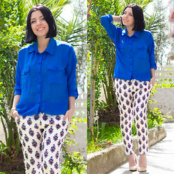 Emel Acar - Mixray Shirt, Sheinside Pants - Retro Printed Pants
