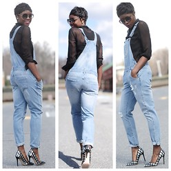 Skinny Hipster -  - Casual Friday: Denim Overalls