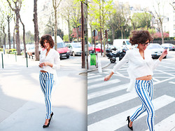 Christina Caradona - H&M Hm, Tommy Hilfiger - Linon whites and Stripes | Paris