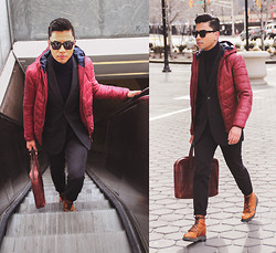 Denny Balmaceda - Marc By Jacobs Suit - MAROON.