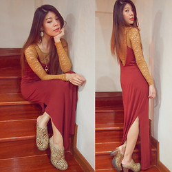 B @Style Voyage - Forever 21 Necklaces, Dr. Martens Leopard Shoes, H&M Dress - Lace & Maxi Dress