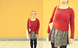 Barbora H. - H&M Jumper, H&M Dress - Help me get my feet back on the ground