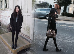 Leonie Leong - Zara Coat, Chloé Chloe Bag, Jeffrey Campbell Booties - The Walk