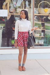 Candace P. - Forever 21 Plaid Skirt, Urban Outfitters Loafers - Don't pull me in, let me be.
