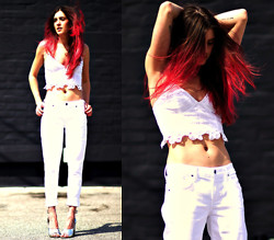 Laura Ellner - Free People Top, Goldsign Jeans, 3.1 Phillip Lim Shoes - MANIC PANIC