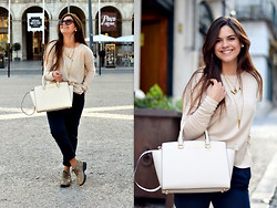 Luiza Grinberg - Michael Kors Bag, H&M Sweater, Pull & Bear Trousers, Hogan Shoes, Prada Sunglasses, Brandy Melville Usa Necklaces - Afterglow