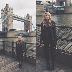 Mary Ellen Skye - Doma Leather Jacket, Modern Vice Boots - When in London