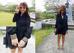 Daphne Verzosa - Ezra Little Black Dress, Twinky Strappy Heels, Sm Department Store Sunnies - Finish Line