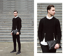Vladan Gavric - Jessica Buurman Sweater , Bag And Pants, Nike Sneakers - BLACK&WHITE : THE CASUAL EDITION