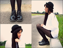 Loraine Kelly B. - River Island Laquer Lace Up Shoes, Asos Hat, Urban Outfitters Sweater - Charlie