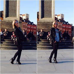 Michalina Kasprowicz - Stradivarius Jacket, Mohito T Shirt, Bershka Pants - Weekend in Warsaw!