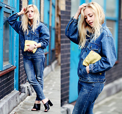 Sarah Mikaela - Zara Mules, Topshop Boyfriend Jeans - Denim on Denim