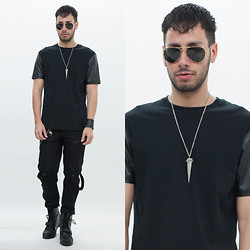 Reinaldo Irizarry - Topman Shirt, Hot Topic Jeans, Ralph Lauren Boots, Ray Ban Sunglasses, Hot Topic Necklace, H&M Leather Cuff, John Varvatos Wallet Chain - BOOT CAMP