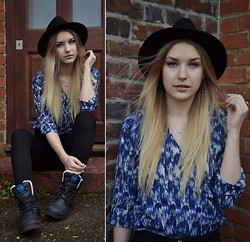 Kristiana V - Palladium Boots, Urban Outfitters Hat - SO GOOD TO BE BAD
