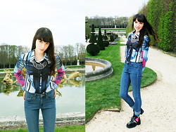 Barbara Malewicz - Mr. Gugu & Miss Go Graphic Shirt, Levi's® Denim, River Island Cut Out Boots - Versailles is for princesses