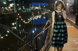 Niki Adams - Anthropologie Dress, J. Crew Necklace - A Magical Date Night.