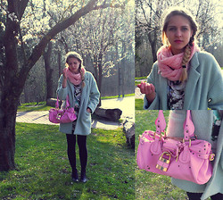 Nadja B - Choies Coat, Chloé Bag, H&M Scarf, Monki Shoes - Cotton Candy
