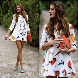 Marianela Yanes - Zara Jacket, Sheinside Dress, H&M Clutch, Zara Heels - Tweet Tweet