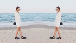 Ana Moon - Forever 21 Sweater, River Island Dress, Balenciaga Boots - In love with sea