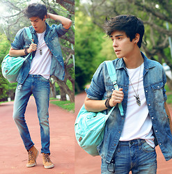 Vini Uehara - Aloha Helsinki Necklace, Mavi Shirt, Mavi Pants - Denim On Denim