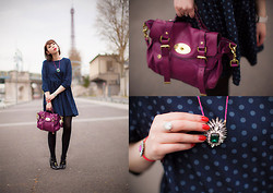 Jessica D - Asos Polka Dot Dress, Shourouk Necklace, Chloé Shoes, Mulberry Bag, Swarovski Ring, Swarovski Bracelet - Dots dots dots