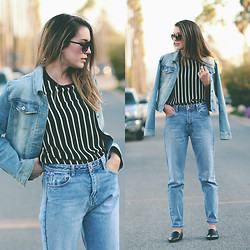 Brittany Xavier - Target Jacket, Zara Jeans - Denim on denim