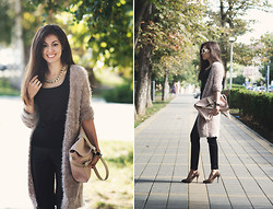 Julia Wigandt - Orsay Cardigan, Ostin Bag, Zarina Leather Pants - Opposites attract