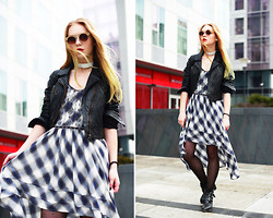 Lena Ushakova - Free People Dress, Urbancode Leather Jacket, Asos Sunglasses - I'm looking for spring